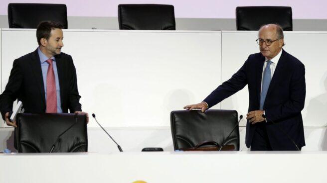 El consejero delegado de Repsol, Josu Jon Imaz, y su presidente, Antonio Brufau.