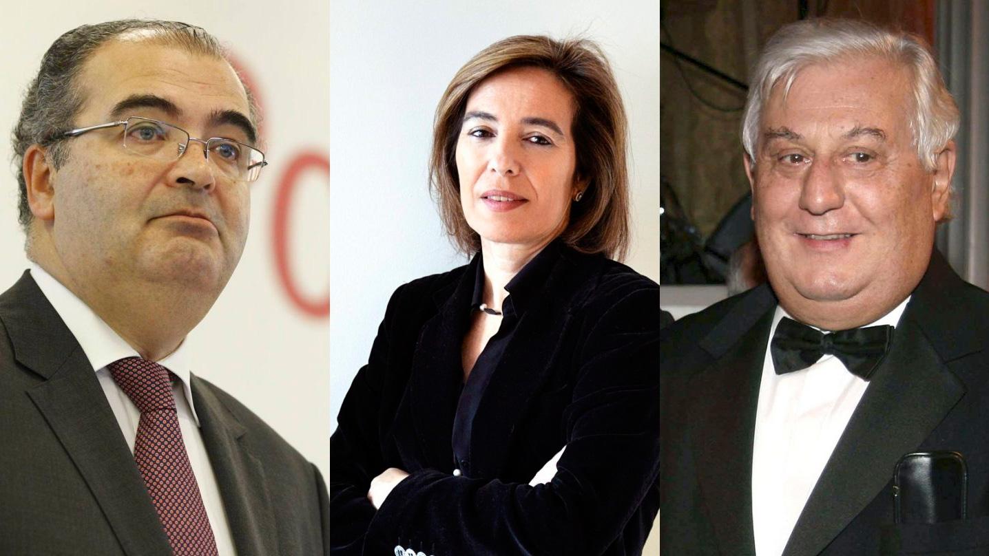 De izquierda a derecha. Ángel Ron, Reyes Calderón y Antonio Del Valle.