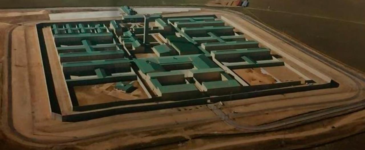 Vista aérea del centro penitenciario ubicado en el término de Soto del Real.