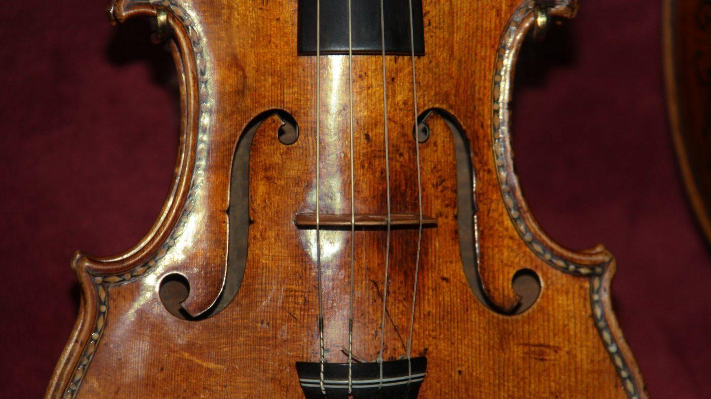Detalle de un violín Stradivarius
