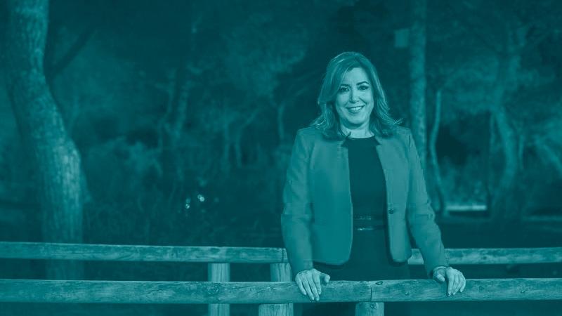Susana Diaz, durante las primarias del PSOE
