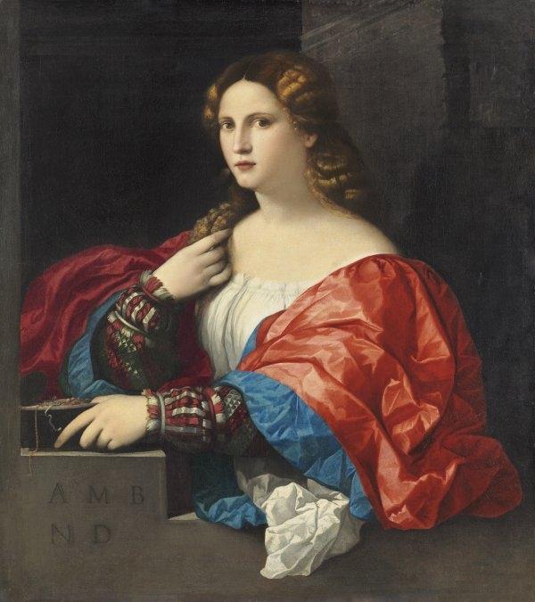 """'Retrato de una mujer joven llamada """"La Bella""""', de Jacopo Negretii."""