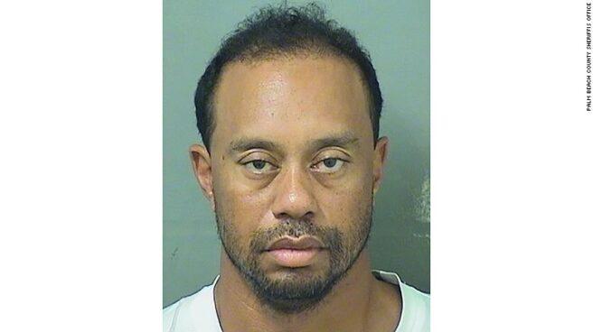 Tiger Woods, detenido en Florida.