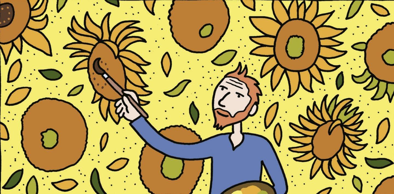 Una de las escenas del cómic sobre Van Gogh.