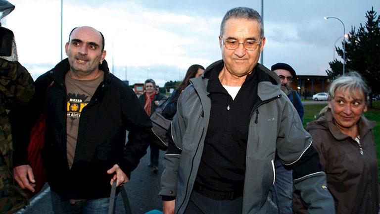 Domingo Troitiño a su salida de prisión el 8 de noviembre de 2013.