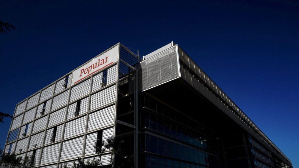 Sede del Banco Popular, en la carretera de Barcelona, a las afueras de Madrid.