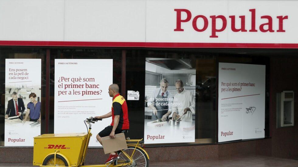 Sucursal del Banco Popular en el centro de Barcelona.