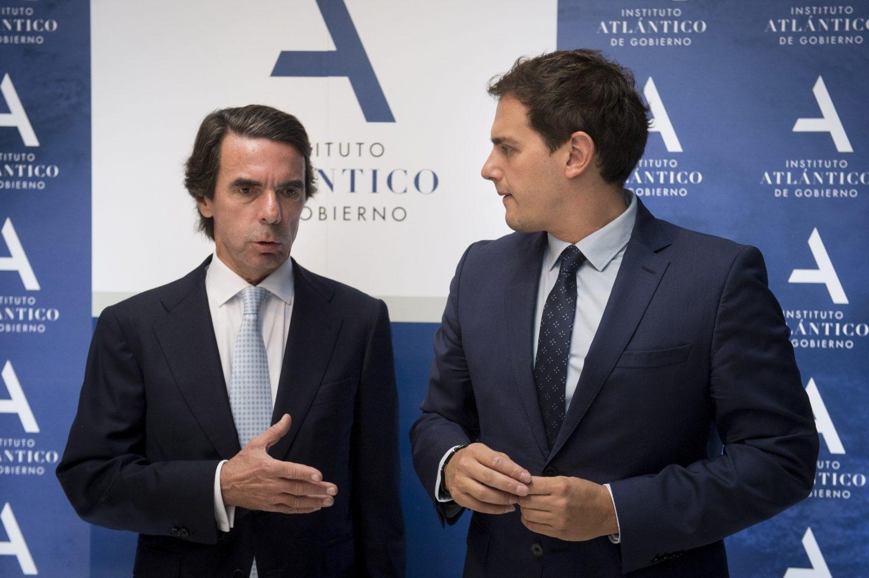 José María Aznar y Albert Rivera, en la clausura de la II Semana Atlántica.