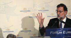 Mariano Rajoy, durante un desayuno informativo.