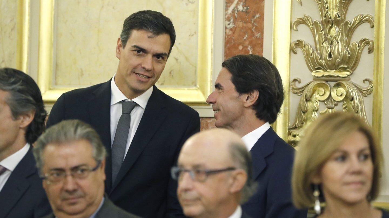 40º aniversario de las elecciones: Sánchez y Aznar.