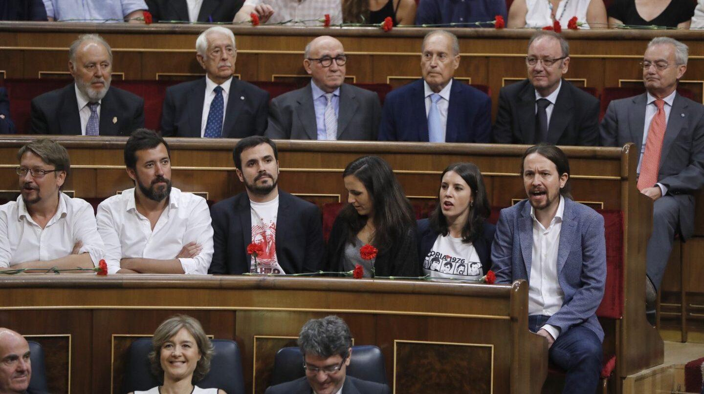 40 aniversario de las elecciones: Pablo Iglesias e Irene Montero.