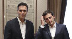 Pedro Sánchez y Albert Rivera, en el Congreso.