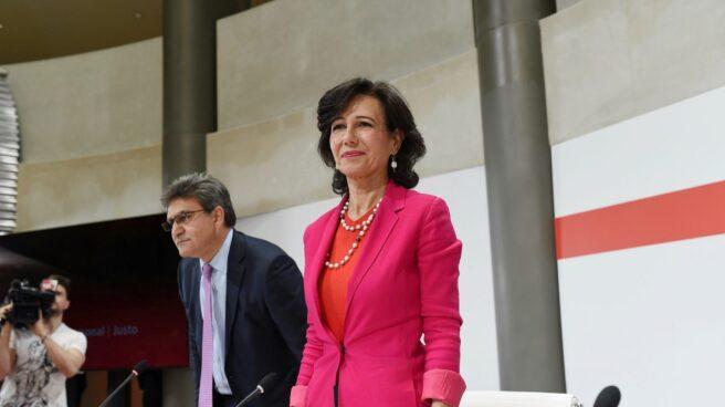 Ana Patricia Botín, en su intervención sobre Popular.
