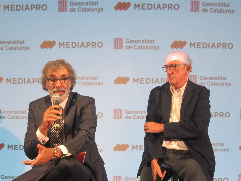 Tatxo Benet y Jaume Roures, en una presentación el pasado mayo.