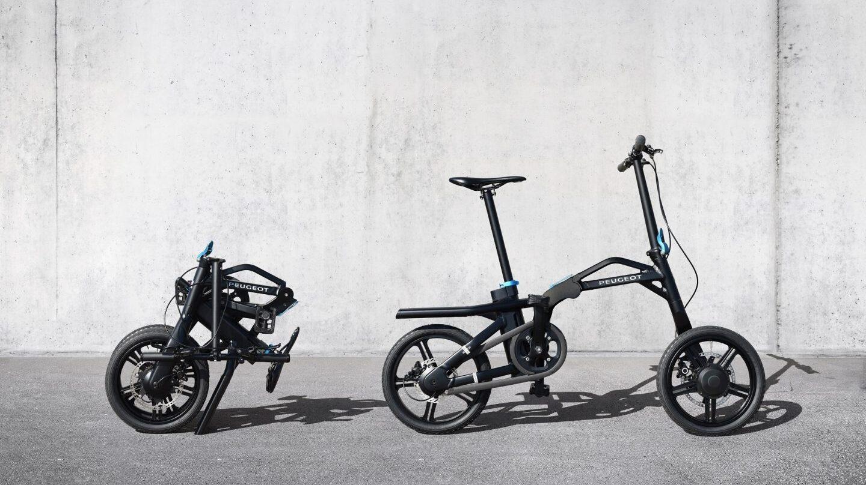 La nueva bicicleta híbrida plegable de Peugeot.
