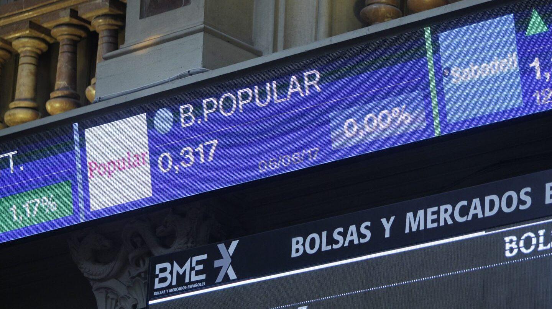 Las acciones de Popular en Bolsa.