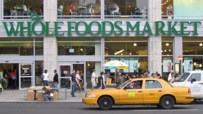 Supermercado de la cadena Whole Foods Market, recién comprada por Amazon, en Nueva York.