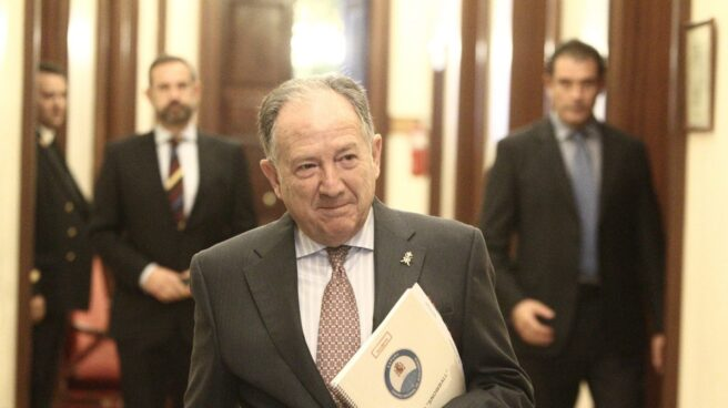 Félix Sanz Roldán, en el Congreso de los Diputados.