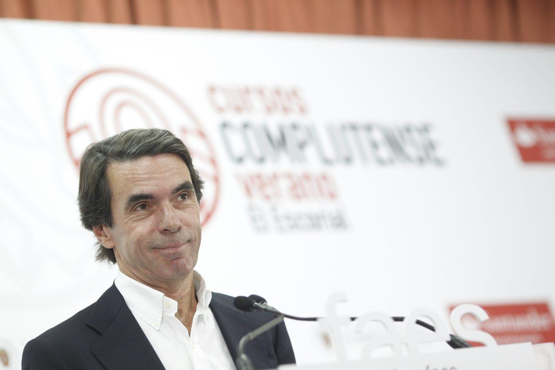 José Maria Aznar, durante la clausura de los cursos de FAES.
