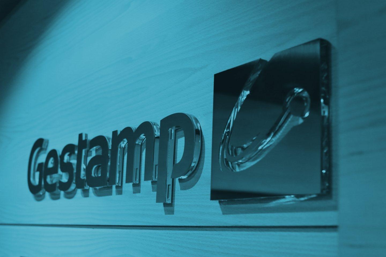 Logotipo del fabricante de componentes para el mercado del automóvil Gestamp.