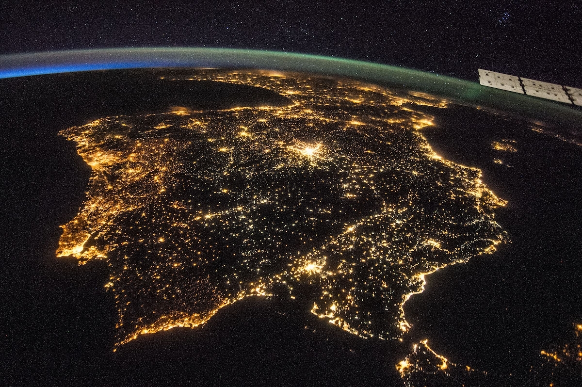Iberia contaminada lumínicamente