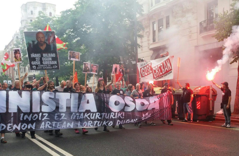 Manifestación en apoyo al preso de ETA, Iñaki Bilbao, celebrada el sábado 24 de junio.