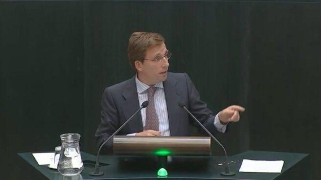 Jose Luis Martínez Almeida, en el Pleno del Ayuntamiento de Madrid.