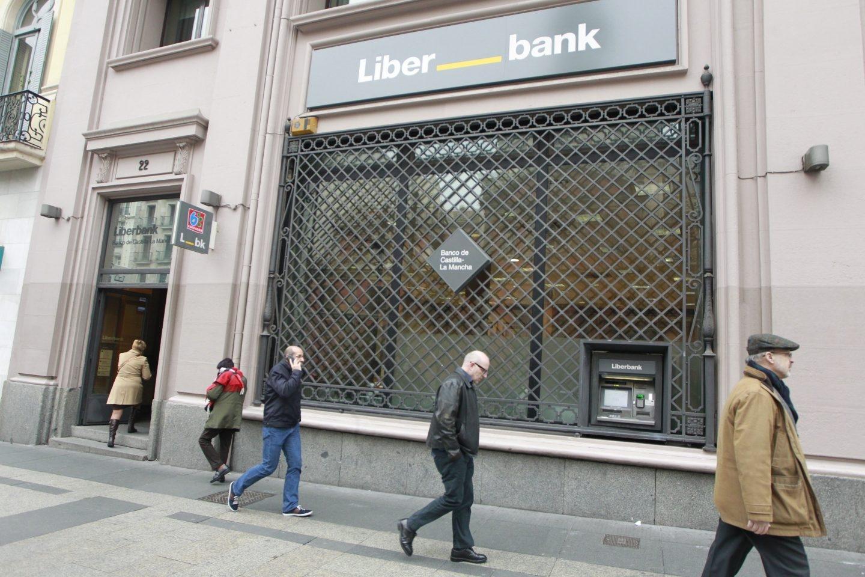 Sucursal del banco Liberbank.