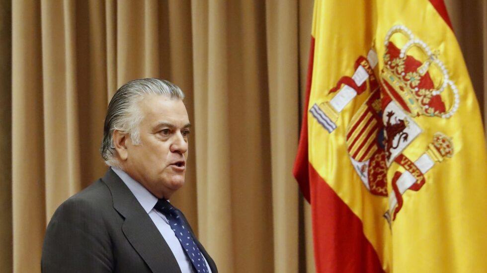 Luis Bárcenas, en la Comisión del Congreso.
