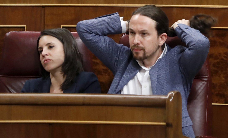 Montero e Iglesias, en la moción de censura.