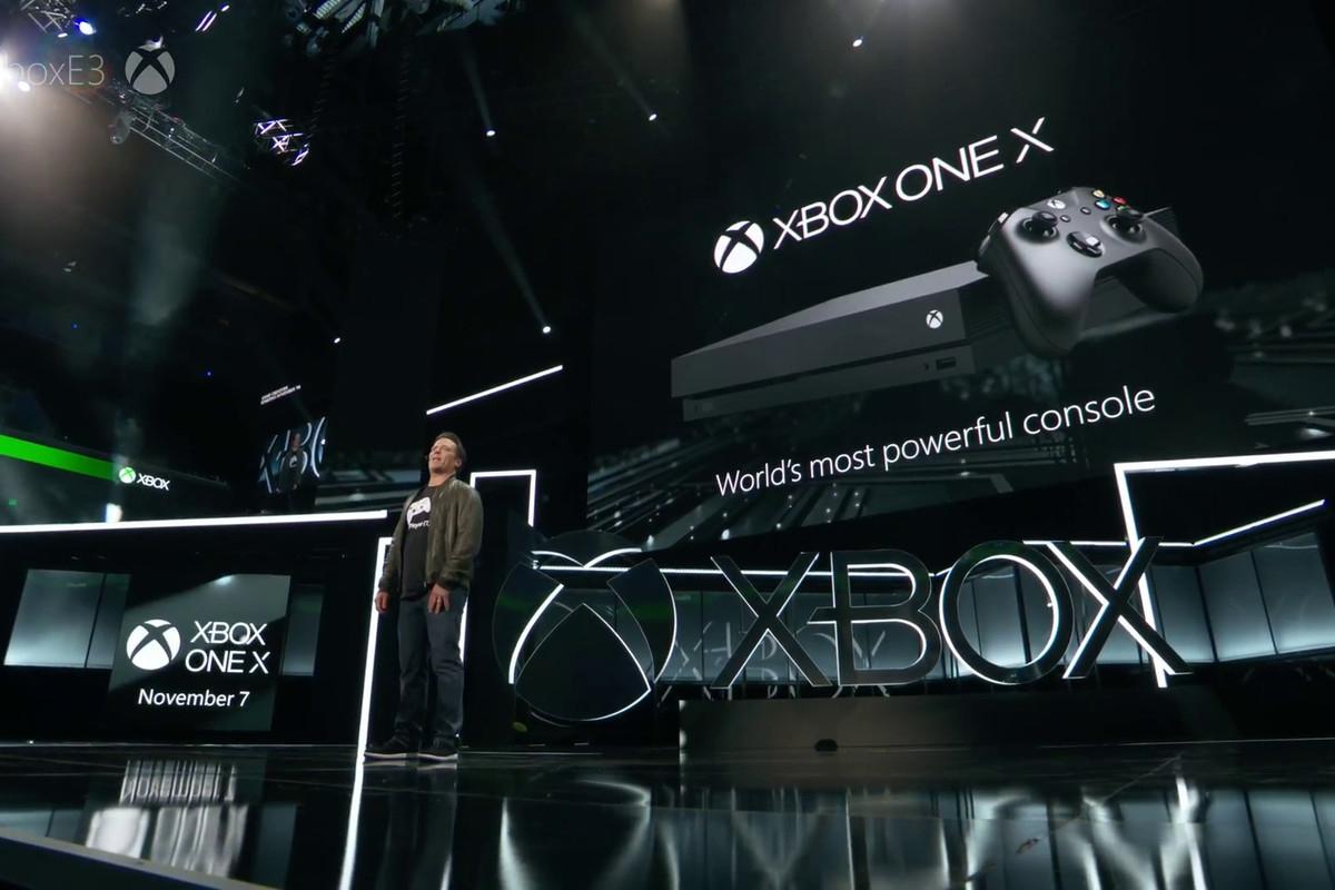 Microsoft Xbox One X.