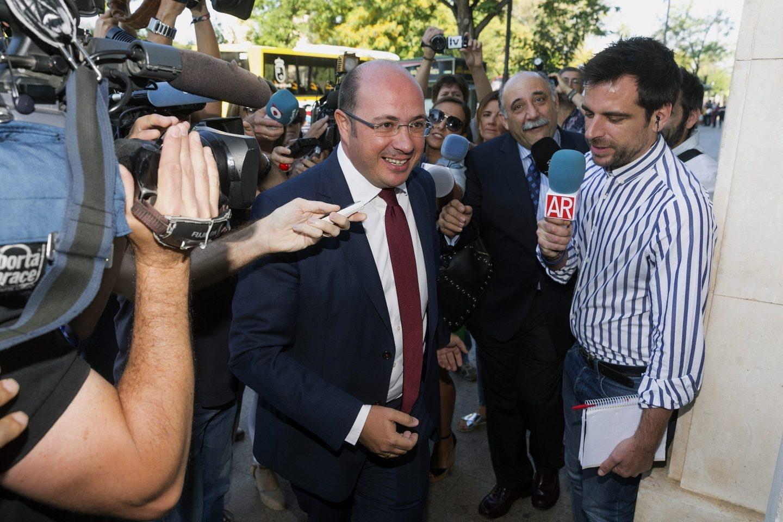 Pedro Antonio Sánchez llega al Tribunal en Murcia.
