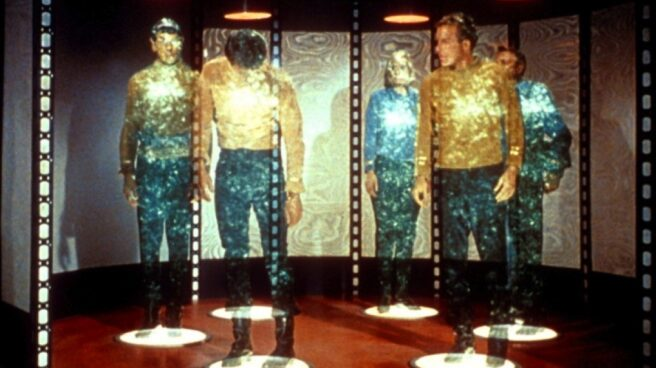 Fotograma de la máquina de teletransporte de Star Trek