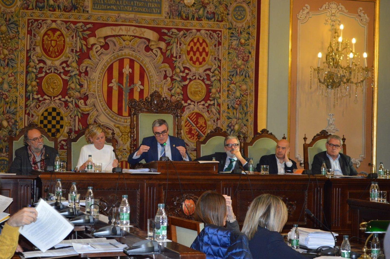 Imagen de archivo del Pleno de Lleida