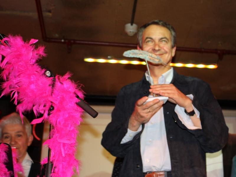 El expresidente del Gobierno, José Luis Rodríguez Zapatero, durante los Premios Plumas y Látigos.