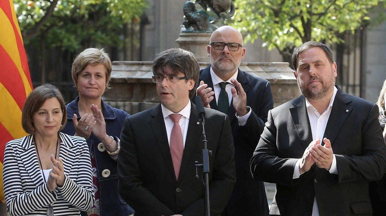 Carles Puigdemont anuncia la fecha del referéndum.