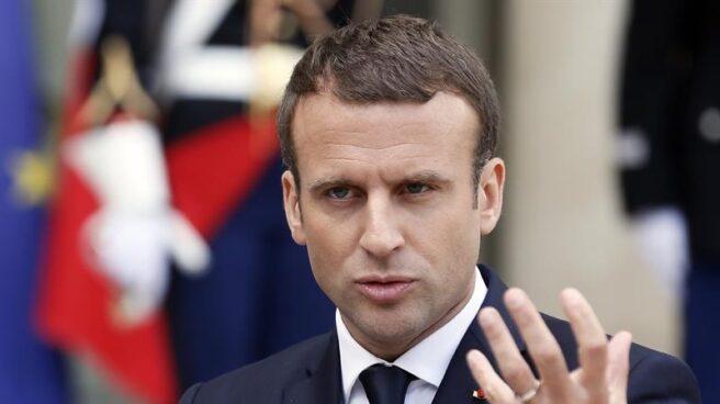 Emmanuel Macron recibe a mandatarios extranjeros en El Elíseo.