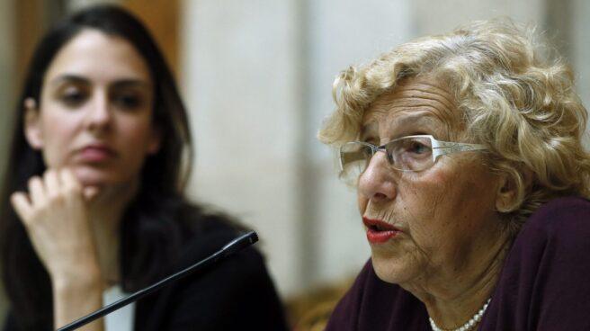 Rita Maestre y Manuela Carmena, en el ecuador de su gestión en el Ayuntamiento de Madrid.