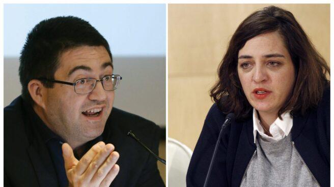 Los concejales de Ahora Madrid Carlos Sanchez Mato y Celia Mayer