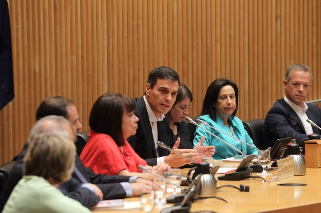 Pedro Sánchez preside el grupo parlamentario del PSOE.