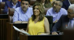 Susana Díaz, en el Parlamento andaluz.