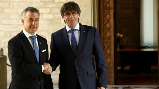 Urkullu y Puigdemont, en la Generalitat.