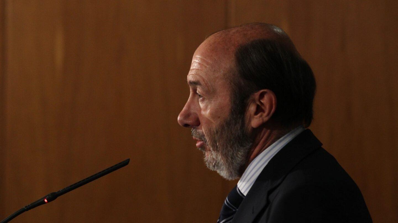 Alfredo Pérez Rubalcaba, en una comparecencia durante su etapa como ministro del Interior.