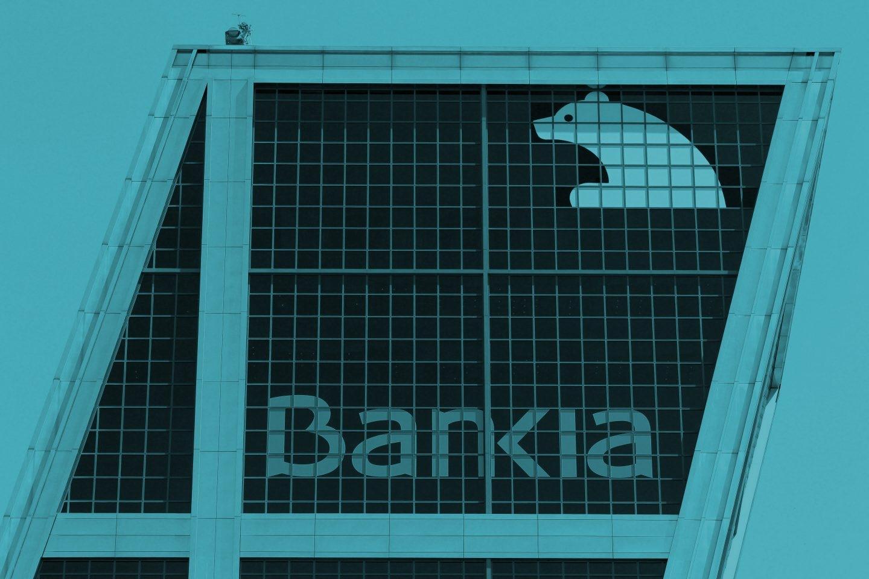Oficina de Bankia en la Puerta de Europa, Madrid.