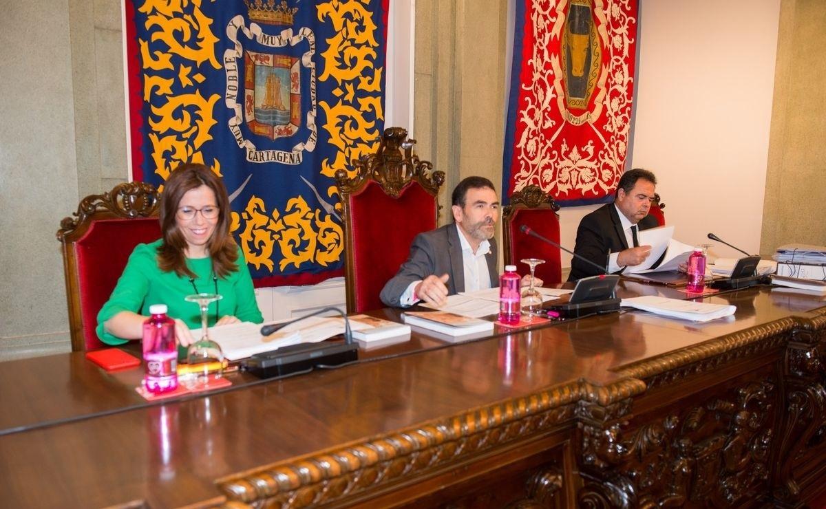 Pleno del Ayuntamiento de Cartagena.