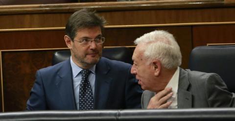 Catalá y Margallo cuando compartían escaño azul