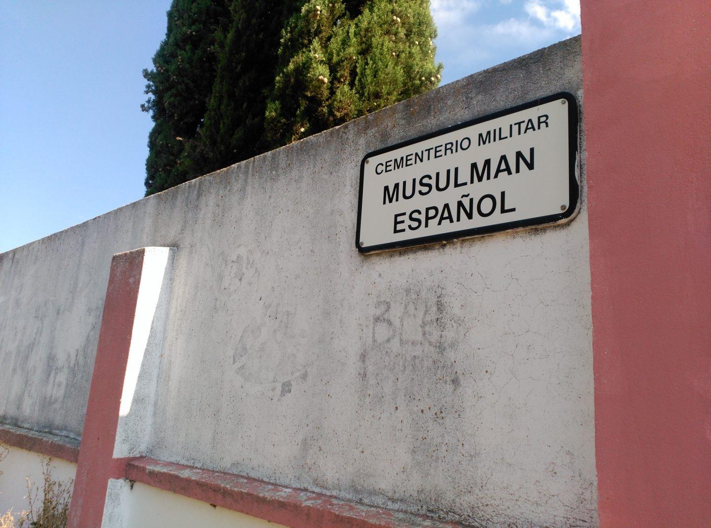 Cementerio militar musulmán en Griñón, al sur de Madrid.