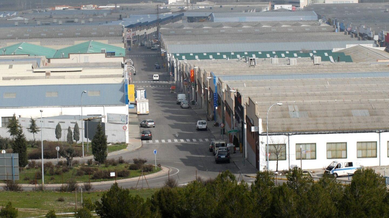 Vista aérea del polígono de negocios chinos en Cobo Calleja (Madrid).