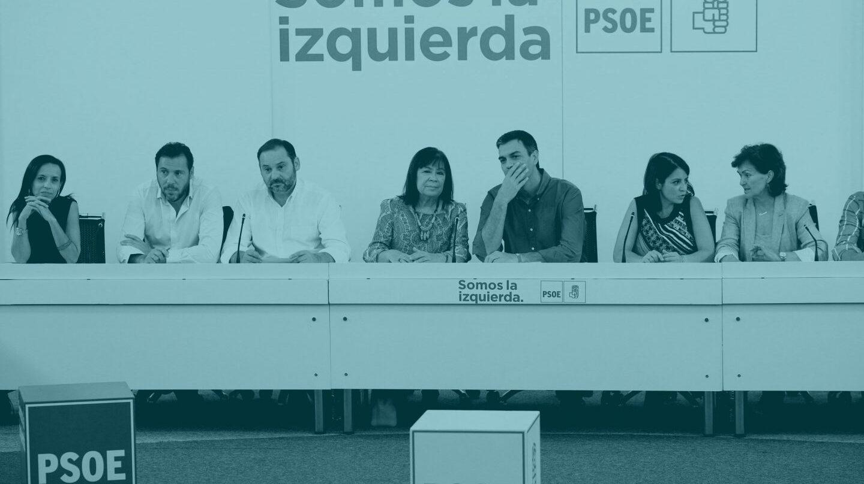 Parte de la nueva Ejecutiva de Pedro Sánchez.