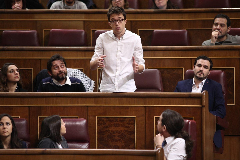 Iñigo Errejón durante una sesión de control al Gobierno en el Congreso.